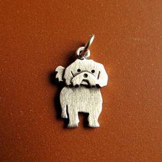 Tiny Shih Tzu pendant by StickManJewelry on Etsy, $22.00