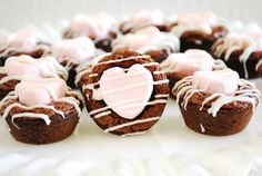 Marshmallow Heart Brownie Bites
