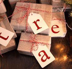 Newspaper Gift Wrapping | Make Create Do