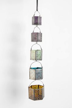 Tiered Hanging Tea Light - Set Of 5