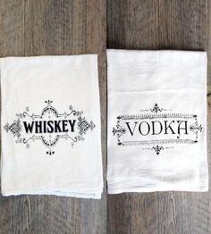 Whiskey  Vodka Bar Towel Set