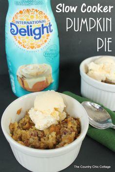 Slow Cooker Pumpkin Pie -- make pumpkin pie in your crock pot using a cake mix.