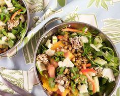 Freekah, Arugula, Heirloom Tomato Salad