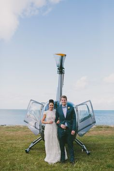 grand entrance, photo by Love Katie + Sarah http://ruffledblog.com/bellarine-peninsula-wedding #helicopter #wedding #reception