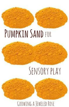Easy to make pumpkin scented sand for amazing Fall sensory play