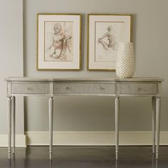 Modern History Home Ribbed Drawer Console Table @Layla Grayce