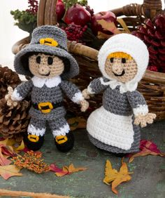 Pilgrim Pair Crochet Pattern  #thanksgiving  #crochet  #toy  #doll