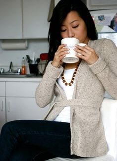 Love the 'oatmeal' gray sweater. If only I didn't wear yoga pants and old tshirts on the weekends. ;)