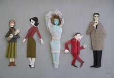 twin peaks paper art • megan brain