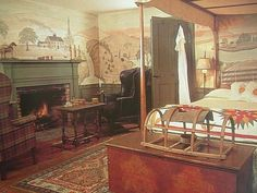 coloni countri, primit room, bedroom mural, primit stencil, coloni bedroom, coloni decor, primit coloni, wall mural, stencil mural