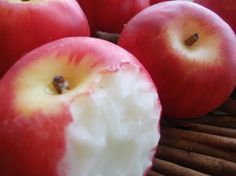 Red apple fruit gift soap in wooden box by Scentcosmetics on Etsy, £7.50
