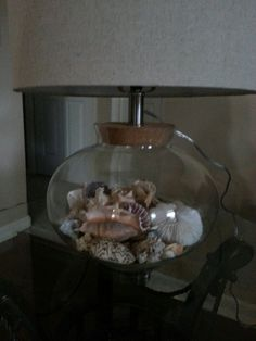 Make My Own Seashell Lamp On Pinterest Lamps Shells And