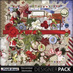 Digital Scrapbooking Kits | December Memories-(PattyB) | Family, Friends, Heritage, Holidays - Christmas, Memories, Vintage | MyMemories