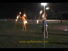 Twirling Fire.  However.... when you are twirling three batons and one drops, act like you meant for it to happen.