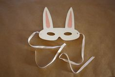 Bunny Mask  with template