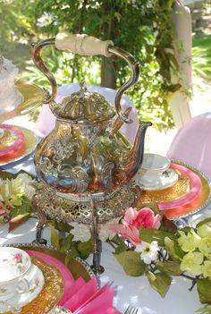 Mothers Day Tea table centerpiece design by : Wonderland Party Props