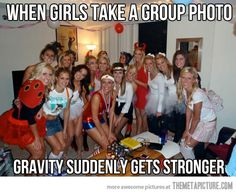 When girls take group photos…