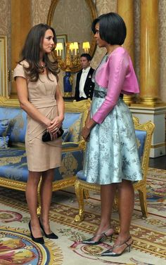 First Lady Michele Obama meets Duchess of Cambridge Kate 2013