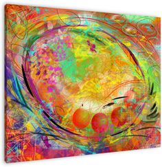 Schilderijen on pinterest swarovski canvas wall art and painting - Kleur kamer ...