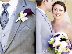 Love the gray suit & Purple combo!