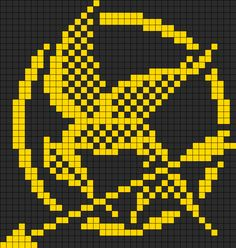Hunger Games Mockingjay Perler Bead Pattern | Bead Sprites | Misc Fuse Bead Patterns