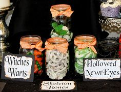 Food labels for Halloween Party. #Halloween, #Food