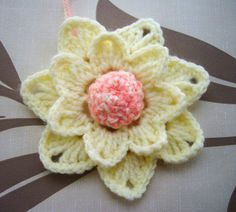 Crochet flower  http://www.etsy.com/shop/CraftsbySigita?ref=si_shop
