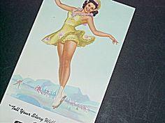 K. O. Munson Pinup Blotter, Figure Skater