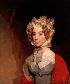 Louisa Adams, American First Lady married to President John Quincy Adams.  She is the only First Lady to be born outside the United States being born in London.  Although shy and reserved, her socials skills helped get her husband elected President in 1824.  She made the social calls to the wives of dignitaries and congressmen and was the hostess of lavish social events.  She equated living in the White House to living in a prison and was not happy living there.