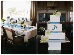 Blue and White Wedding Ideas - View More: http://carolinero.pass.us/madelinejeff