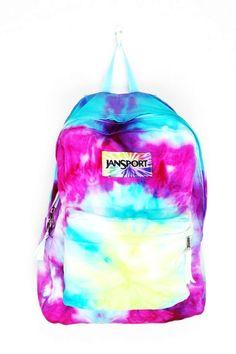 Tie Dye Jansport Backpacks - Colorful Tie Dye Jansport Backpacks