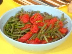 Green Beans and Stewed Tomatoes Recipe : Rachael Ray : Food Network - FoodNetwork.com