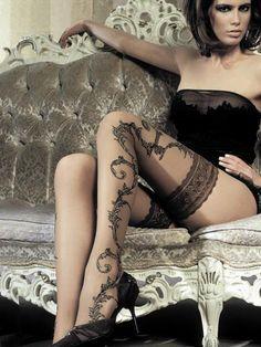 Tattoo Stockings....  www.fashion.net