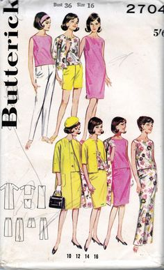 Vintage 1960s Sewing Pattern Butterick by allthepreciousthings, $14.00