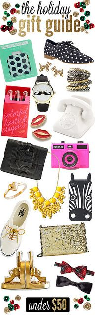 The Holiday Gift Guide. All Under $50. #holiday #gifts