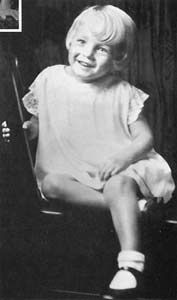 Marilyn Monroe as a little girl.