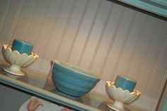 pic of back wainscoting on china cabinet