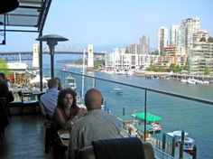 Famous rooftop patio at the Sandbar Seafood Restaurant - Vancouver BC