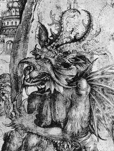 Detalle de Satán, de La Tentación de Cristo. Circa 1500.