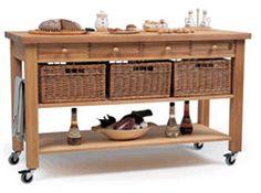 Lambourn 4 Drawer Kitchen Trolley