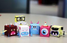 FREE printable PikPok Monster Flip Foldables - paper toys - ... love them!