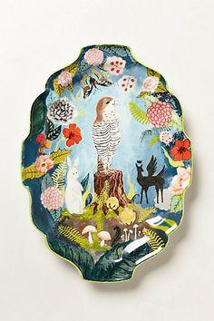 Fern Forest Platter  #anthropologie