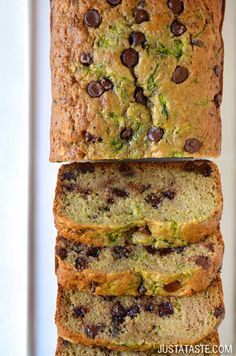 Chocolate Chip Zucchini Bread #recipe