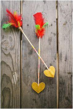 DIY Heart-Shaped Arrows | livelovesimple.com #camp #birthday #party
