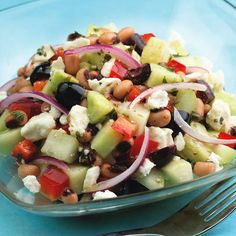 Black-Eyed Pea, Cucumber and Feta Salad - Foodista.com