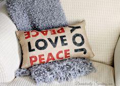 Pottery Barn Peace Love Joy Pillow