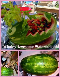 Whale watermelon....I wonder if I'm crafty enough to make this?!
