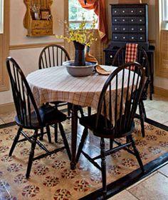 DIY Colonial Floorcloth