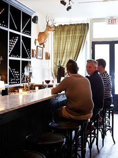 P.M. Wine Bar: Sophisticated yet unpretentious, this lounge resembles a refined hunting lodge.