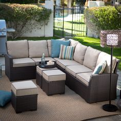 Have to have it. Belham Living Monticello All-Weather Wicker Sofa Sectional Set - $1399.99 @hayneedle.com